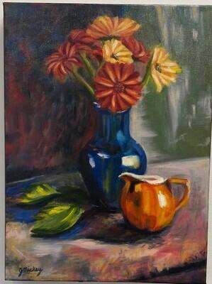 Pitcher and Vase a la Matisse