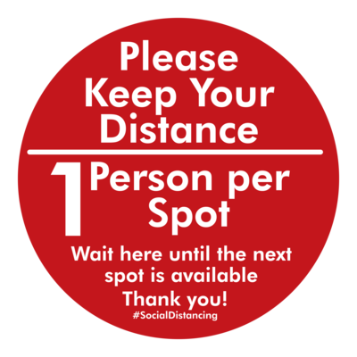 Single Person - Social Distance Dot (Pack of 6)