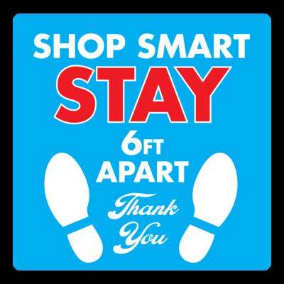 Shop Smart - Social Distance Square (Pack of 6)