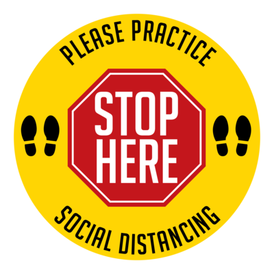Stop Here - Social Distance Dot (Pack of 6)