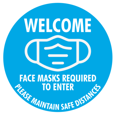 Mask Required - Social Distance Window Cling (Pack of 6)