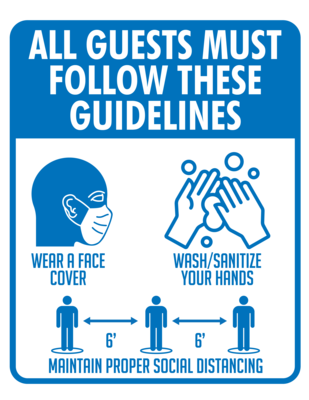 Guidelines - Social Distance Window Cling (Pack of 4)
