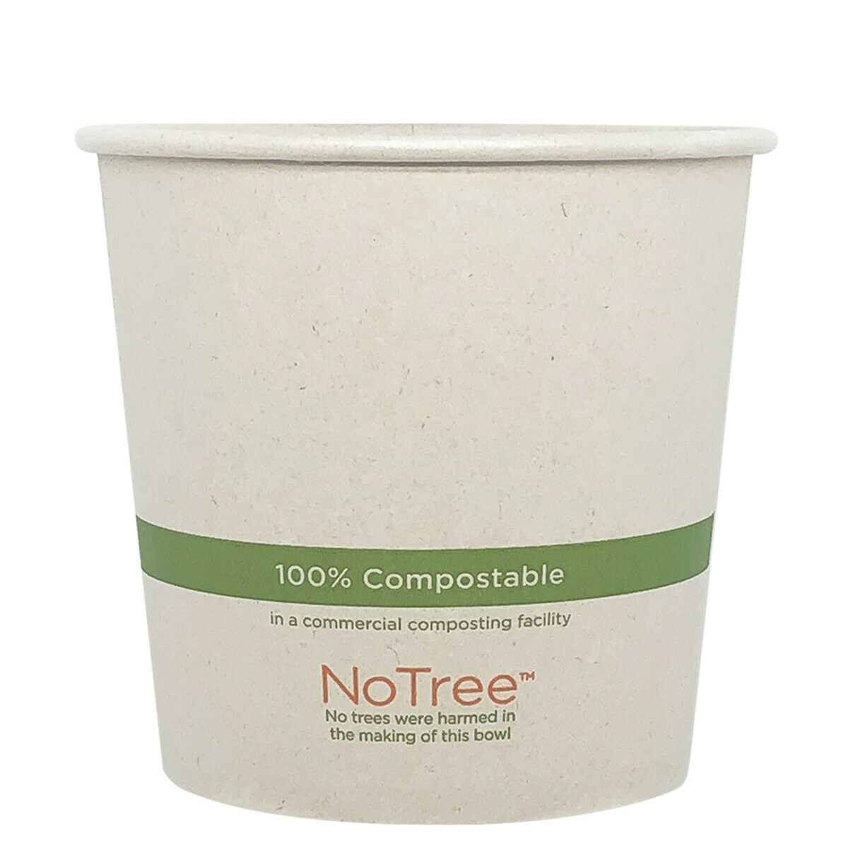 Case of 500 Units or Pack of 50 Units of Paper Bowl NoTree 24 oz
