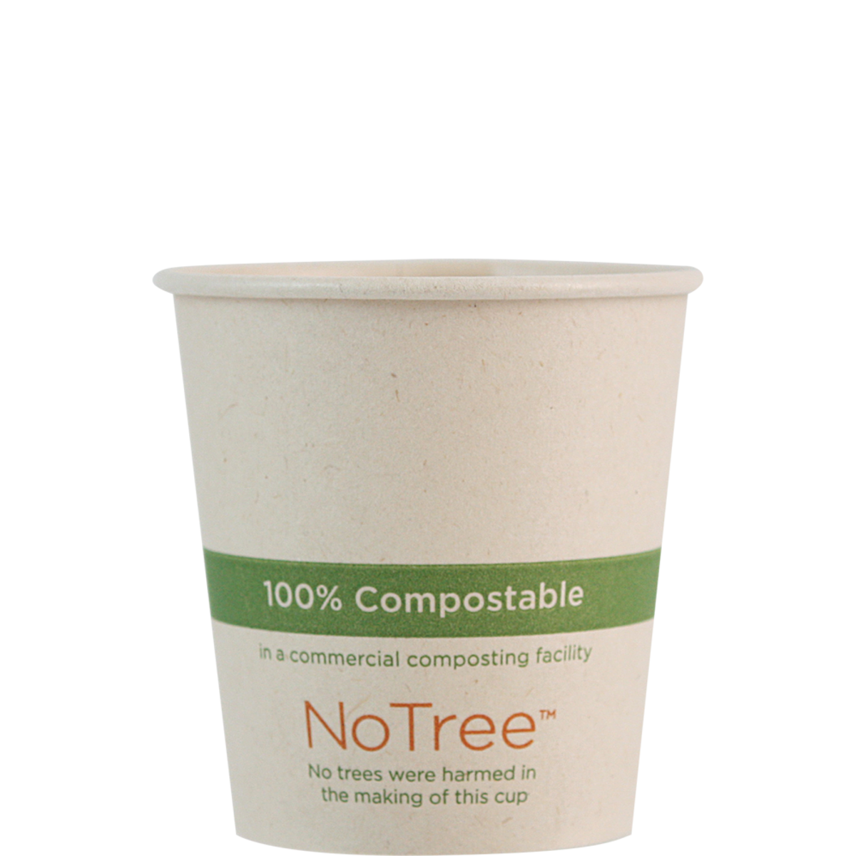 Case of 1000 Units or Pack of 50 Units of Paper Hot Cup NoTree 4 oz