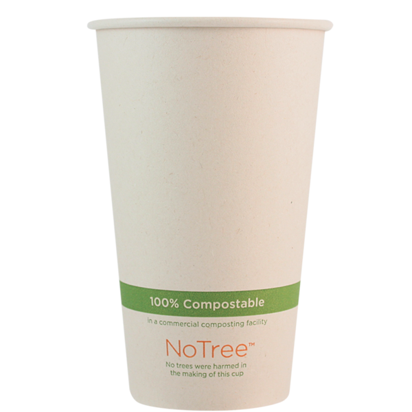 Case of 1000 Units or Pack of 50 Units of Paper Hot Cup NoTree 16 oz