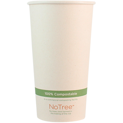 Case of 1000 Units or Pack of 50 Units of Paper Hot Cup NoTree 20 oz
