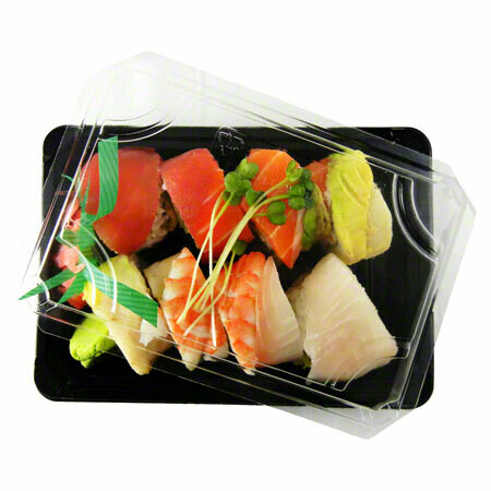 Case of 300 Sushi Trays with Lids