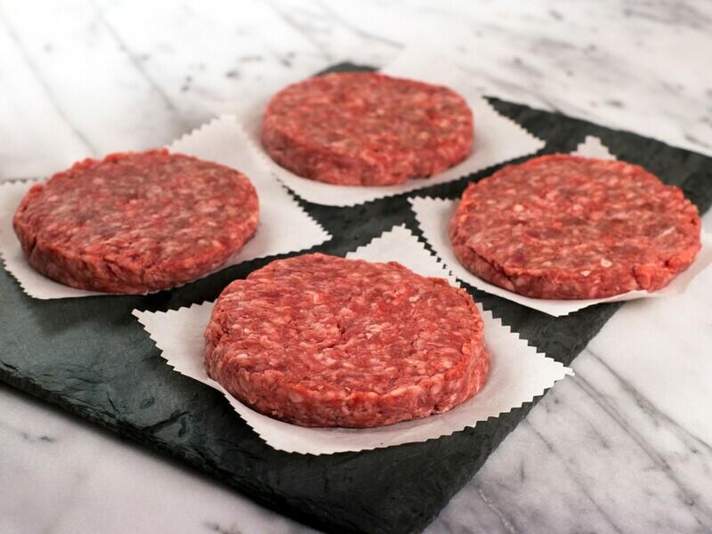 100% Beef Patties - Case 10 lb