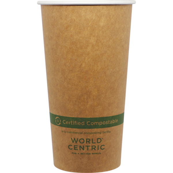 Case of 1000 Units or Pack of 50 Units of Kraft Paper Cup Hot 20 oz