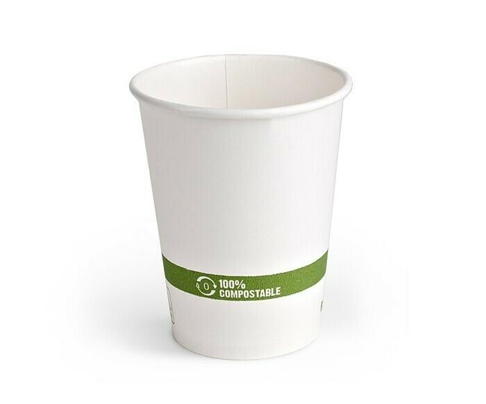 White Paper Hot Cups 8 oz - Case 1000ct