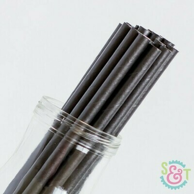 Black drinking paper straws 7.75