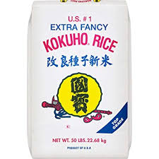 Bag of 50 Lbs Kokuho Sushi Rice