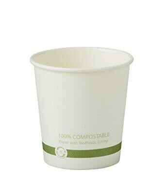 Case of 1000 White Paper Hot Cups 6 oz