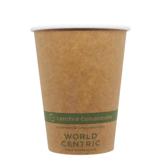 Case of 1000 Units or Pack of 50 Units of Kraft Paper Cup Hot 12 oz