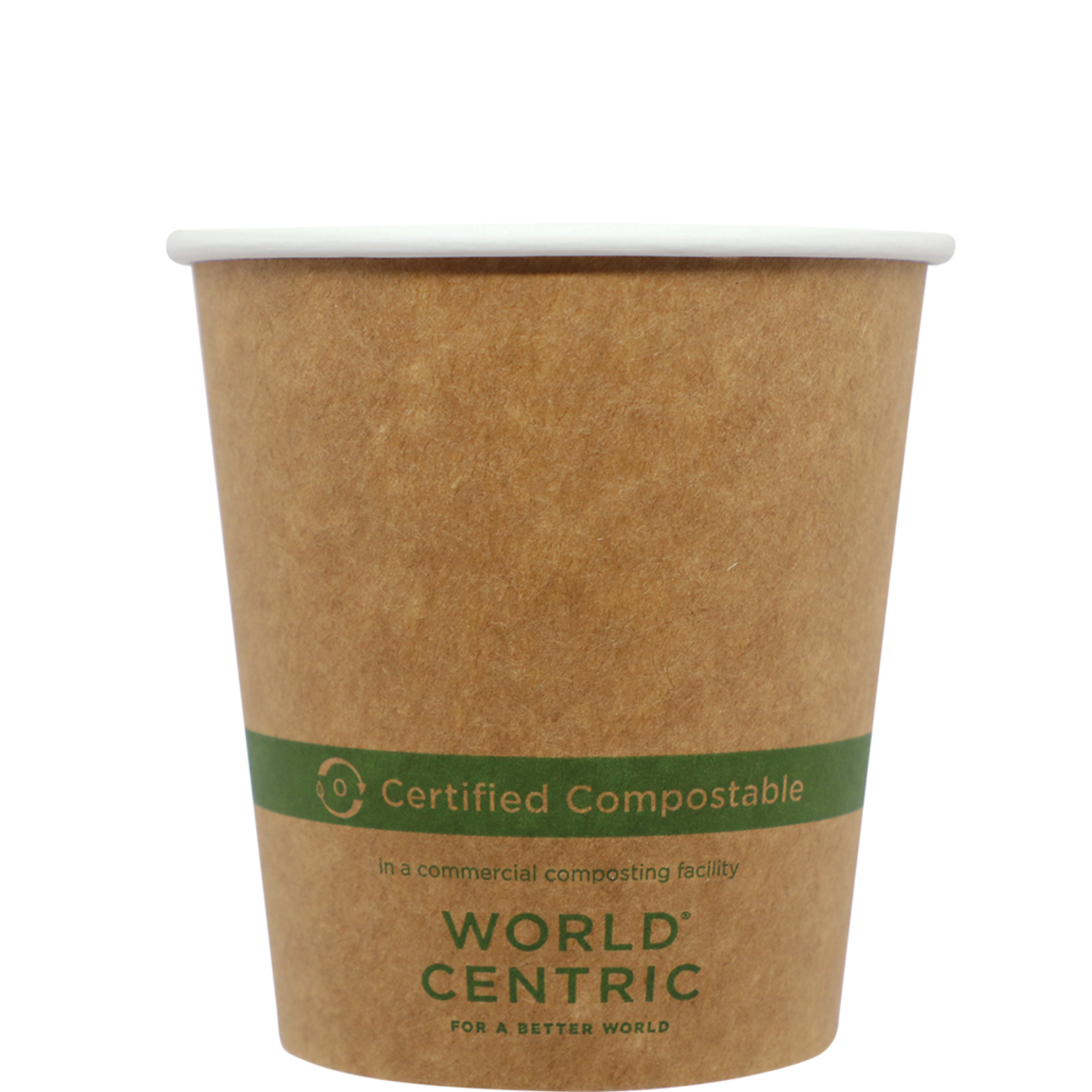 Case of 1000 Units or Pack of 50 Units of Kraft Paper Cup Hot 10 oz