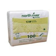Box of 30 Packs of 100 Sheet Cascades Napkin Dinner (fold 1/8) 2ply