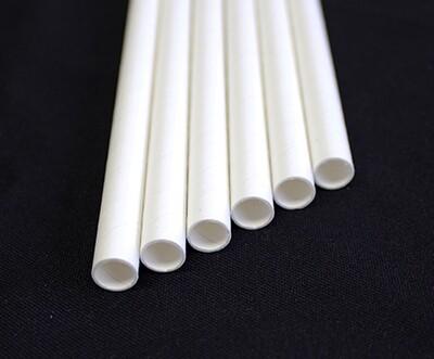Giant white paper straws - Case 40/250