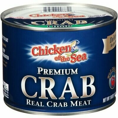 Crab Meat Lump - Can 1 lbs