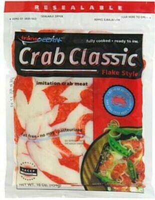 Imitation Crab Flakes - Pack 1 lbs