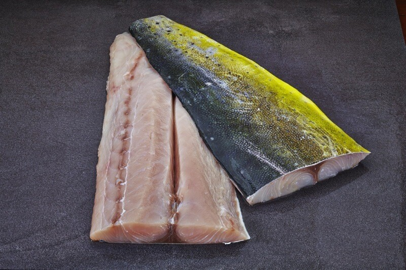 Frozen US Wildcaught Mahi Mahi fillet Skin-on 3/5 Triar