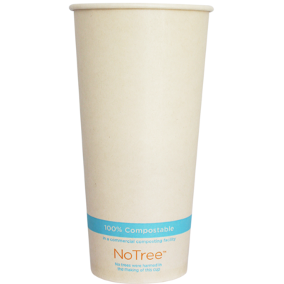 Case of 1000 Units or Pack of 50 Units Of Paper Cold Cups NOTREE 22 Oz