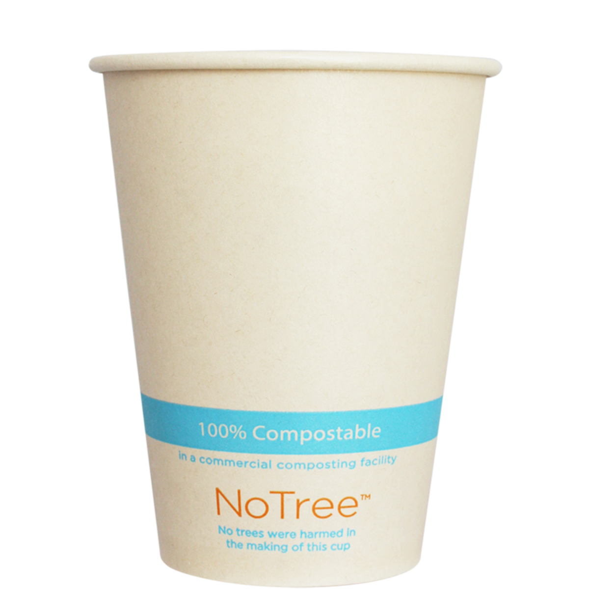 Case of 1000 Units or Pack of 50 Units Of Paper Cold Cups NOTREE 12 Oz