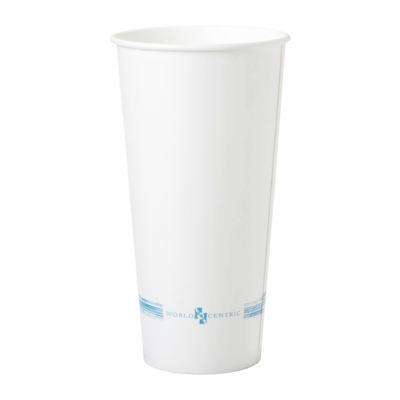 Case of 1000 Units or Pack of 50 Units Of White Paper Cold Cups 22 Oz