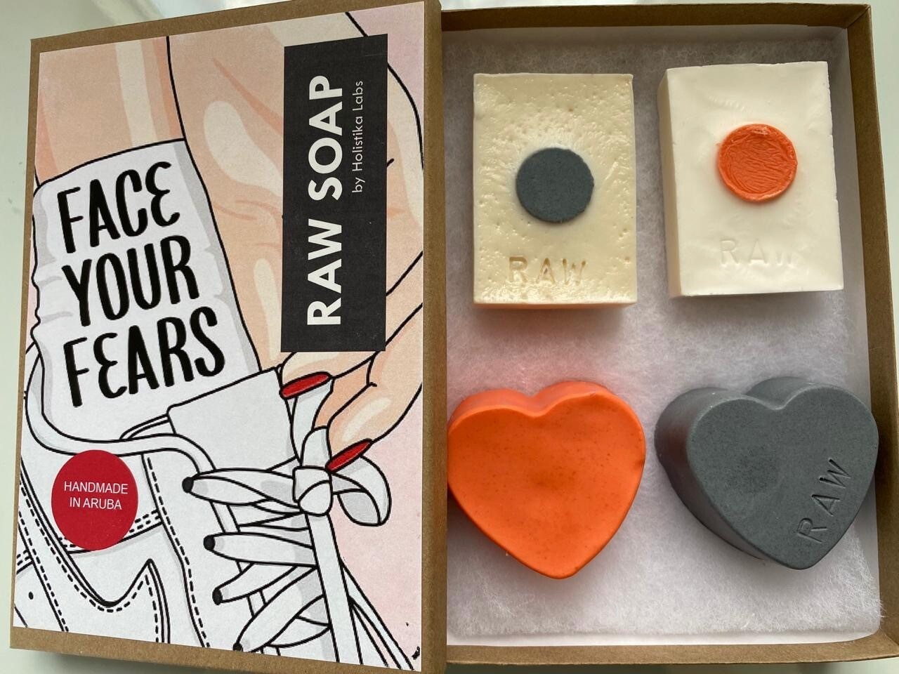 RAW Soap Holistika 'Face Your Fears 1'