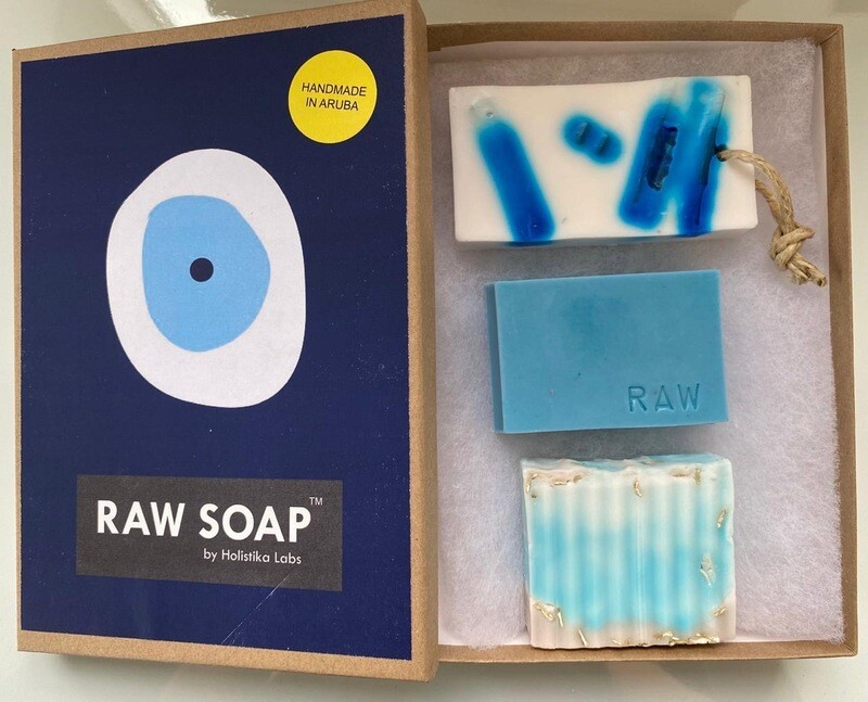 RAW Soap Holistika 'Evil Eye Blue'