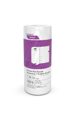 Box of 30 Rolls of 70 Sheet Cascades 100% Recycled Kitchen Paper Towels