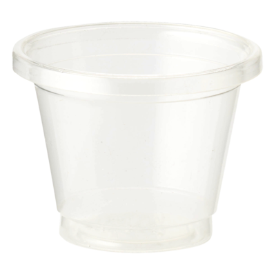 Case of 3000 Units of 1 oz Clear Souffle Cups