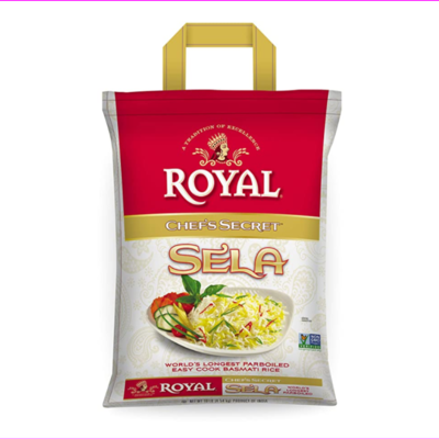 Royal Chef Secret Extra Long Sela Basmati Rice, 20 Pound