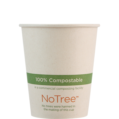 Case of 1000 Units or Pack of 50 Units of Paper Hot Cup NoTree 8 oz