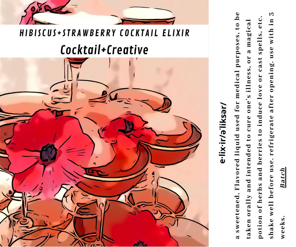 Hibiscus+Strawberry Cocktail Elixir
