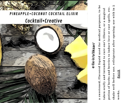 Pineapple+Coconut Cocktail Elixir