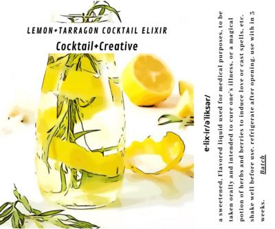 Lemon+Tarragon Cocktail Elixir