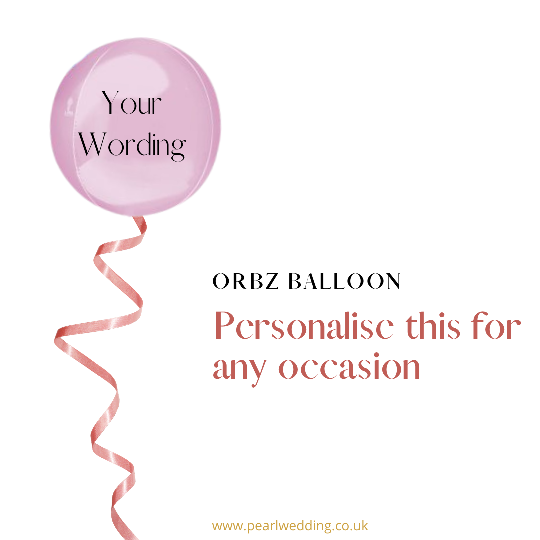 Helium filled personalise Orbz balloon