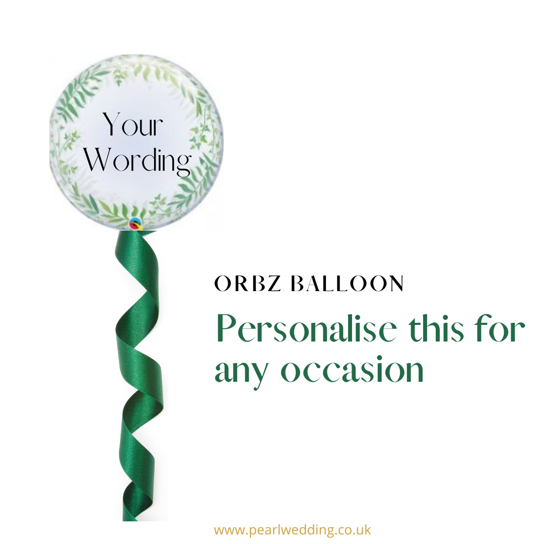 Helium filled personalised balloon with mini balloons inside. Arrives Inflated