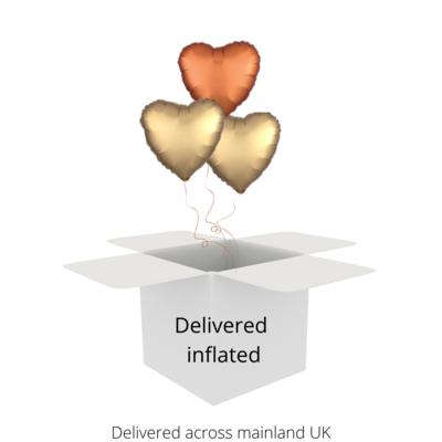 Heart foil balloon bouquet