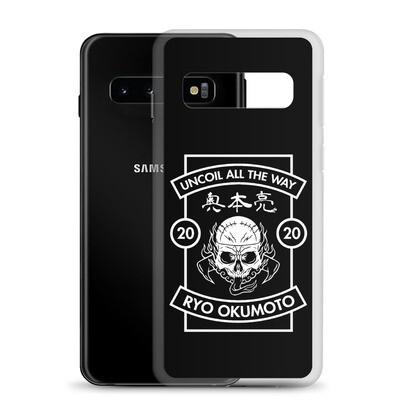Skull Design Uncoil Black Samsung Case