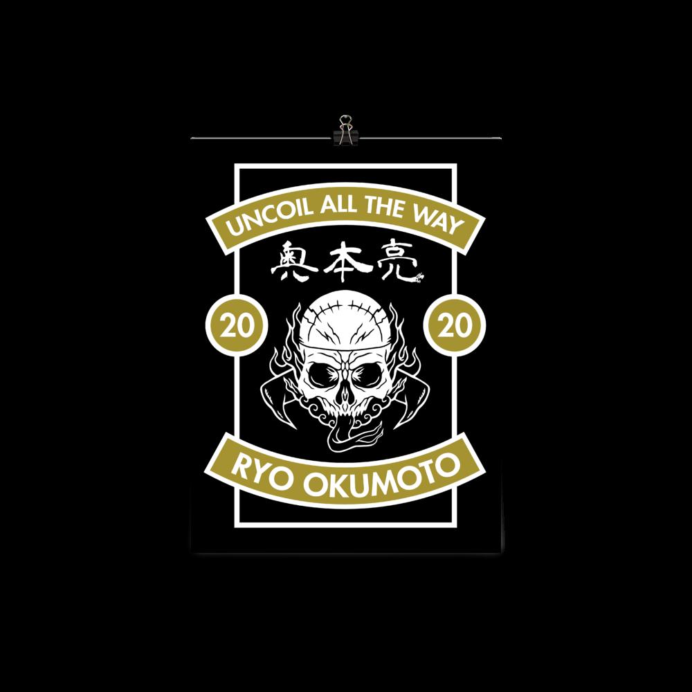 Ryo Skull Design Poster