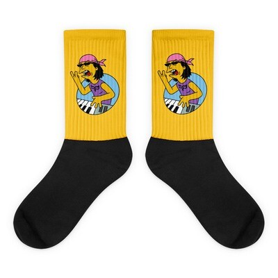 Yellow Cartoon Ryo Socks