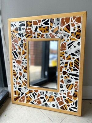 Animal Print Mosaic Mirror  - Sample Sale