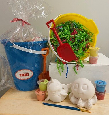 Beach Bucket Gift Set with Two Sea Creatures - Pick up Curbside