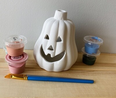 Take Home Jackolantern Votive with Glazes - Pick Up Curbside