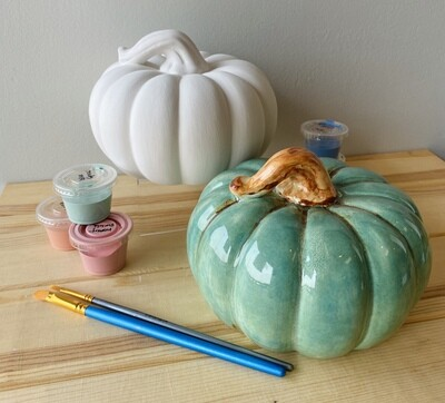 Take Home Squatty Gourd with Glazes - Pick Up Curbside