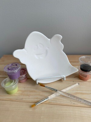 Take Home Ghost Dish with Glazes - Pick Up Curbside