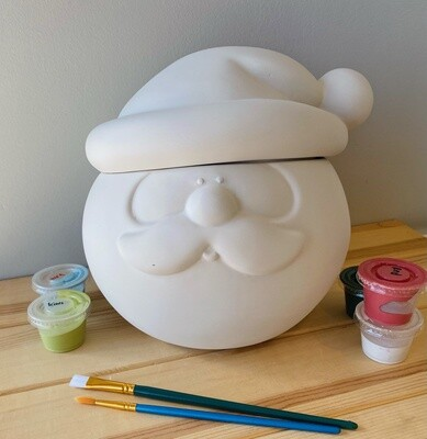 Take Home Santa Head Cookie Jar - Pick Up Curbside