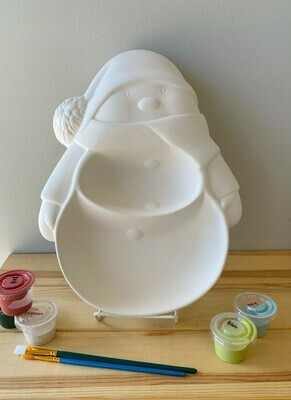 Snowman Section Dish