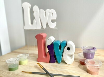 Live Word Plaque